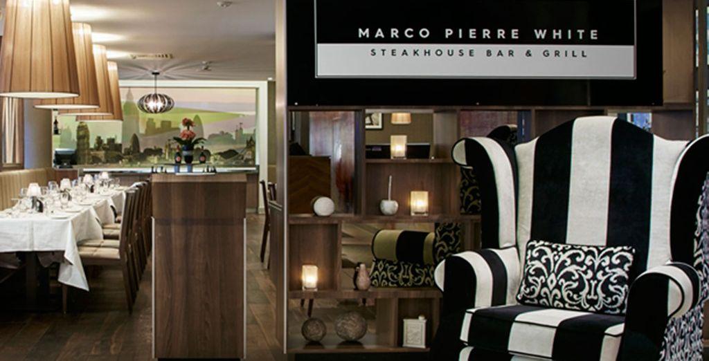 Loi chef stellato Marco Pierre White ha un ristorante all'interno dell'hotel