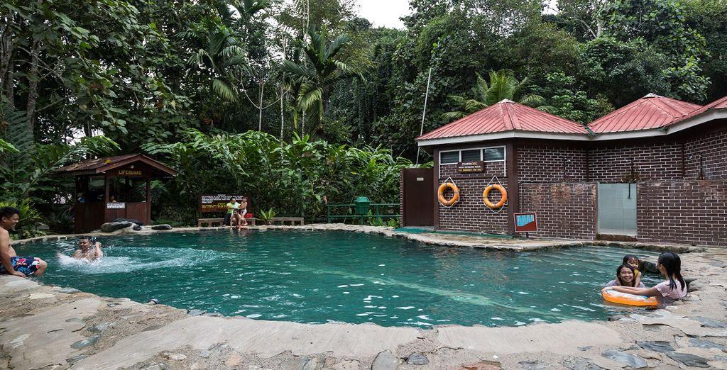 Il Poring Hot Spring Sabah vi delizierà con la piscina all'aperto