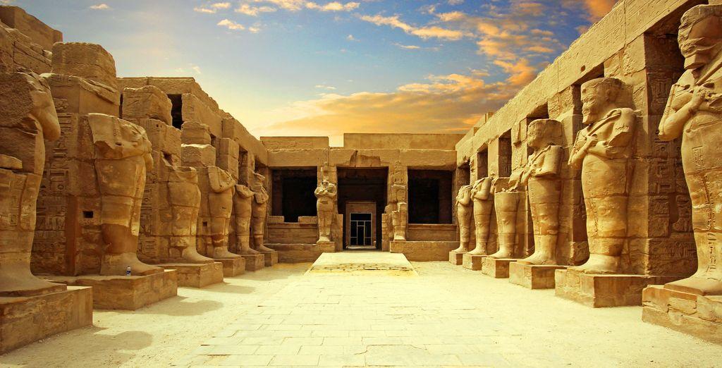 Monumento egiziano del tempo dei faraoni