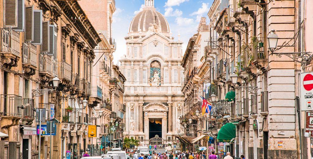 Fotografia della città di Catania in Italia