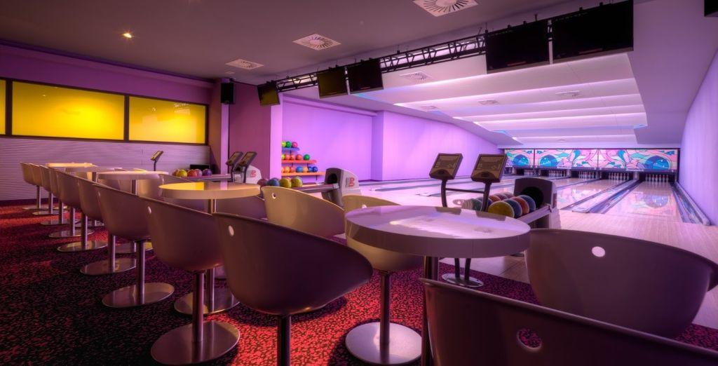 L'hotel dispone di un impianto bowling professionale a 5 piste dove trascorrere la vostre serate tra amici