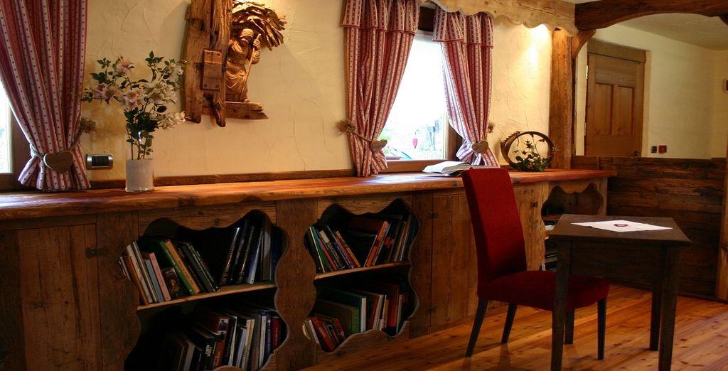 E troverete attimi di relax nella sala lettura