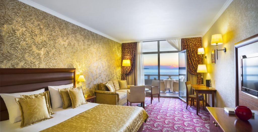 La vostra elegante camera per un soggiorno di relax e comfort a 5*