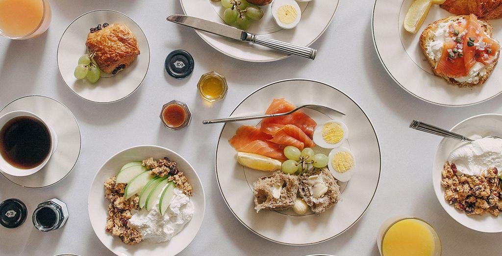 Ogni mattina gusterete una ricca colazione a buffet