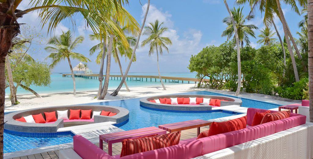 La piscina dove rilassarvi
