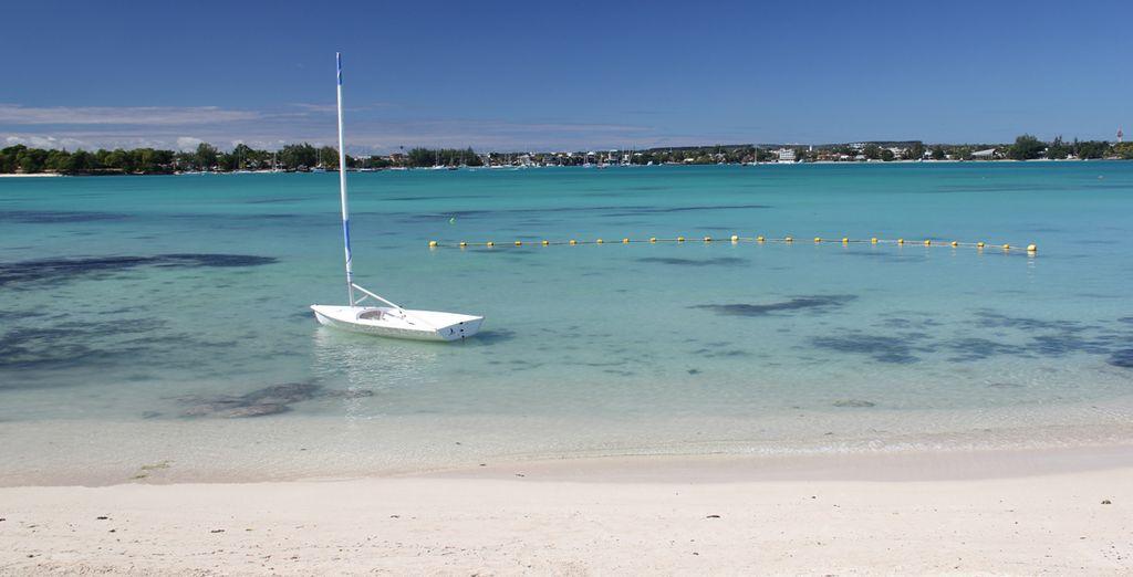 Una magnifica spiaggia solo per gli ospiti dell'hotel