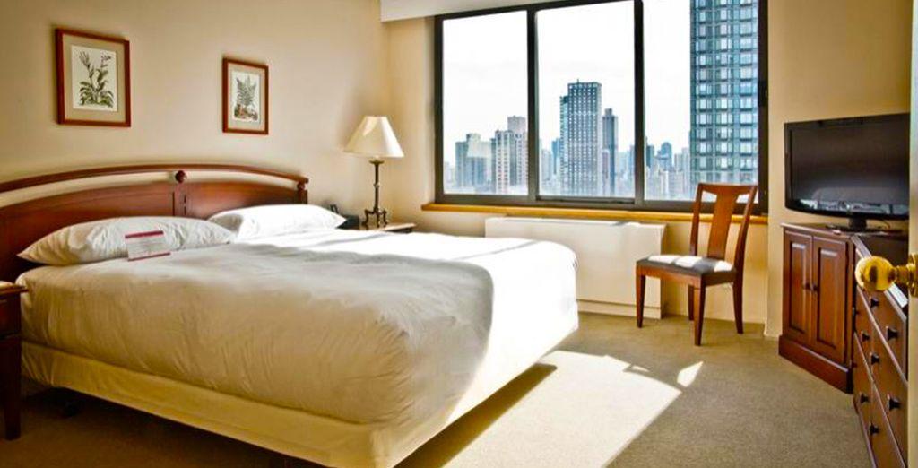 Le confortevoli One Bedroom Suite sono ampie e luminose
