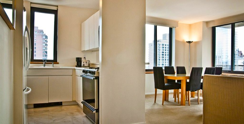 praticamente degli appartamenti dotati di tutte le comodità