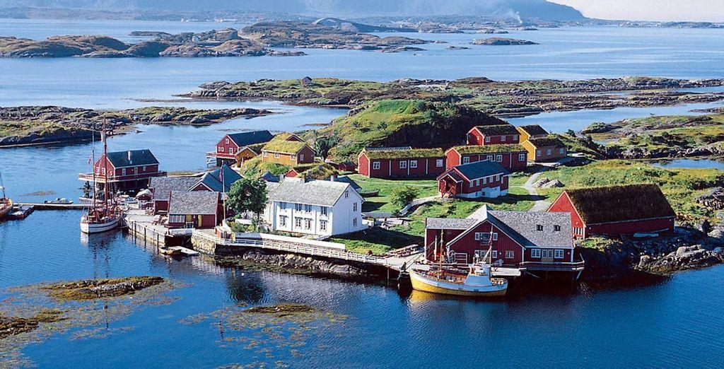 la bellezza dell'Isola di Haholmen in Norvegia
