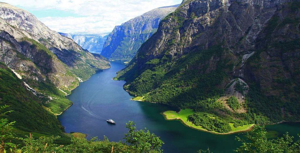 Fotografia dei fiordi norvegesi
