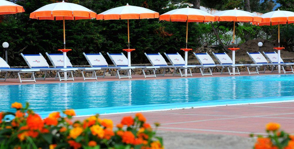 Godete il relax della piscina