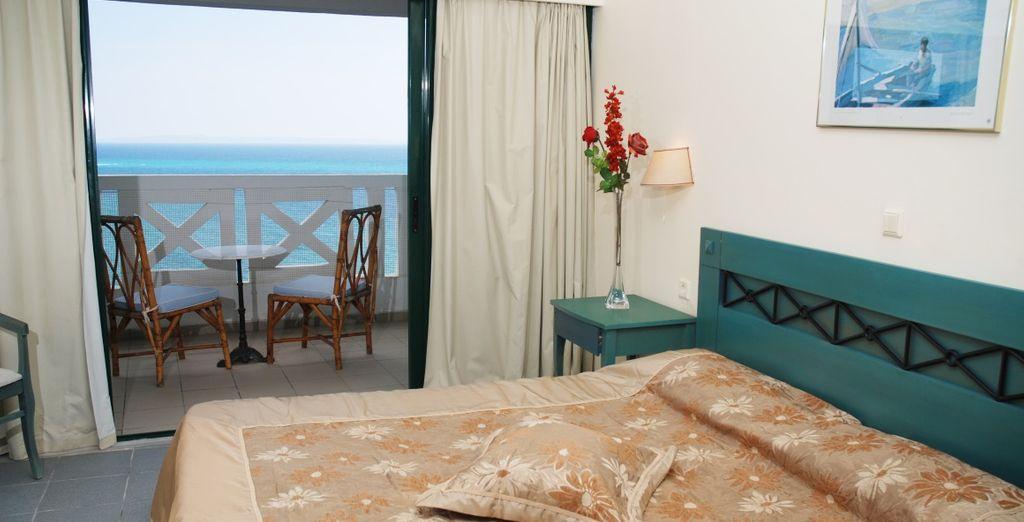 La vostra confortevole camera con vista