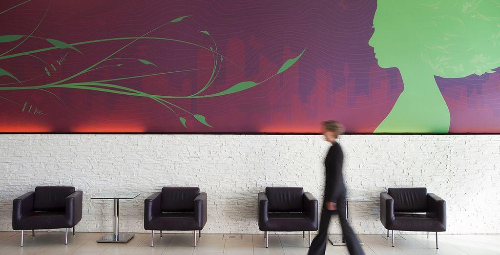 Un hotel dall'arredamento di design