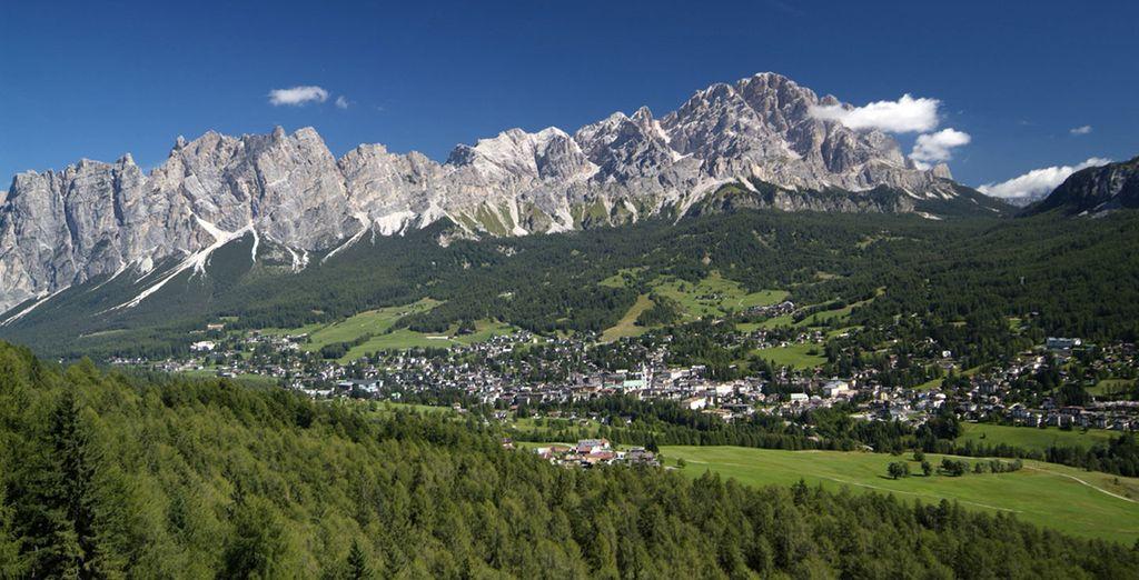 Le Dolomiti offrono un paesaggio incantato