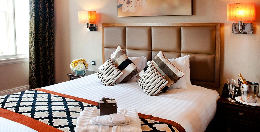 Alloggerete nella vostra confortevole camera