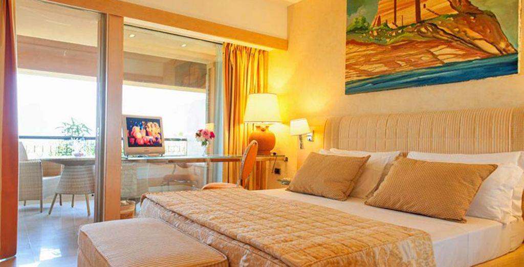 Le camere Superior, luminose e moderne, con i migliori comfort