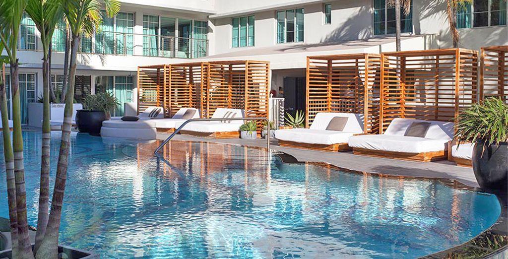 Qui potrete rilassarvi in piscina