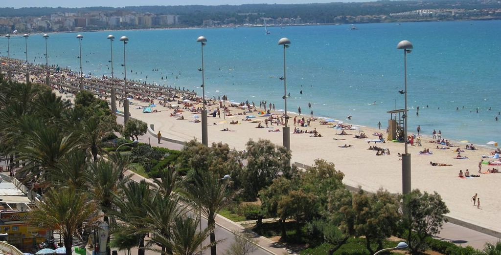 Vi attende una spiaggia lunga e sabbiosa ideale per grandi e piccini
