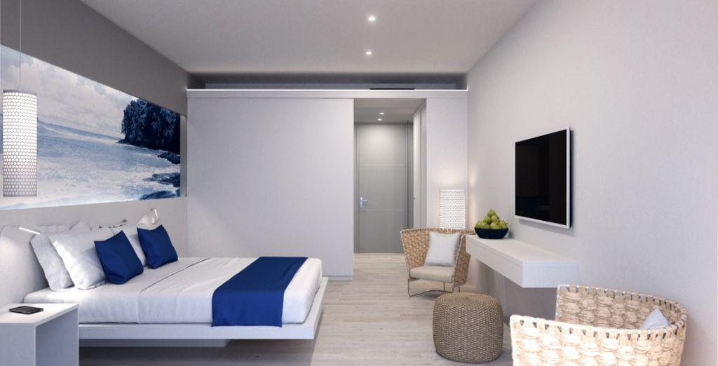 La vostra camera dagli interni curati e ricercati