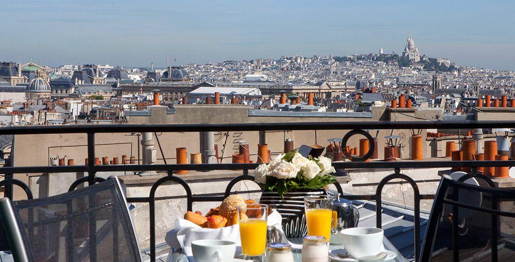 Potrete fare colazione ammirando Parigi