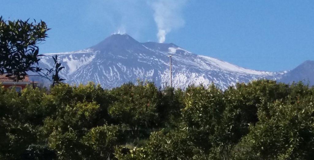 Il relais è splendidamente situato in posizione ideale tra l'Etna