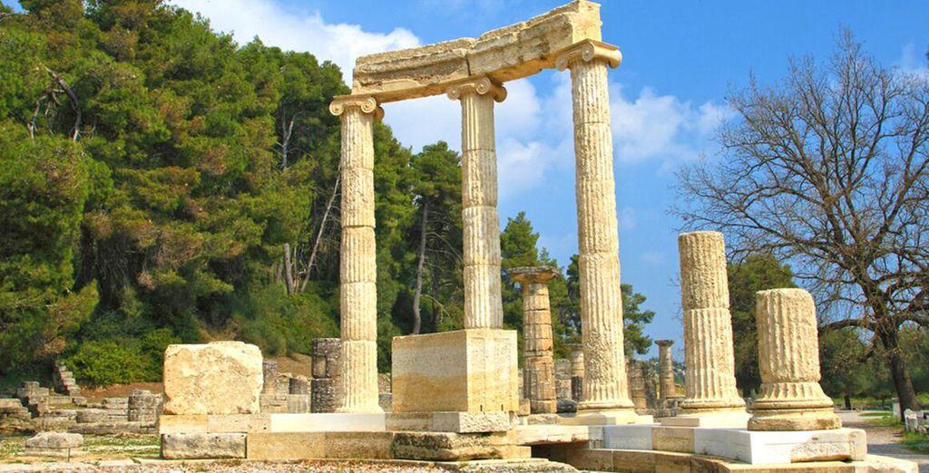Avrete la possibilità di visitare la bellissima Delfi