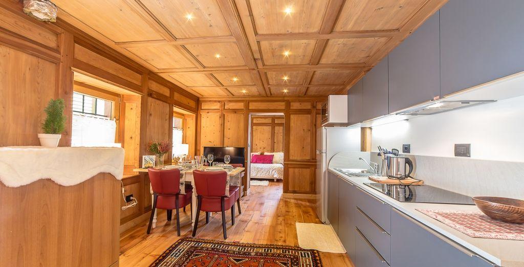 A vostra disposizione una cucina attrezzata con tutti i comfort