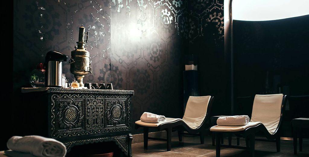 Al termine potrete rilassarvi con una tisana nell'area relax