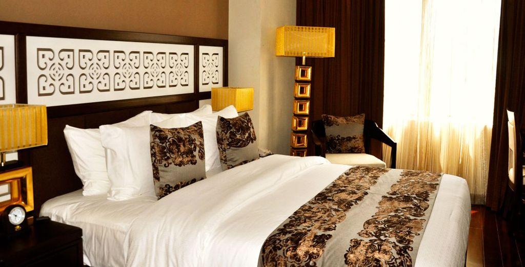 Durante il tour alloggerete in confortevoli hotel: Il Golden Lotus Boutique Hotel di Hanoi