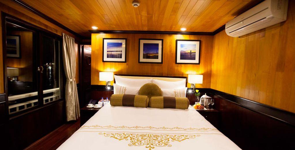 Le comode cabine saranno il luogo perfetto in cui godersi un dolce relax.
