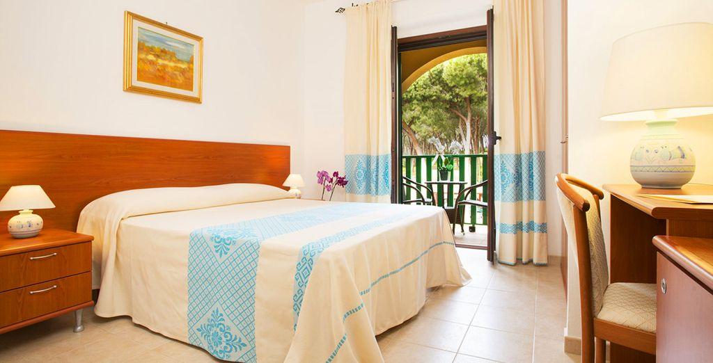 Hotel di charme con tutti i comfort, letto matrimoniale e vista sul Mar Mediterraneo