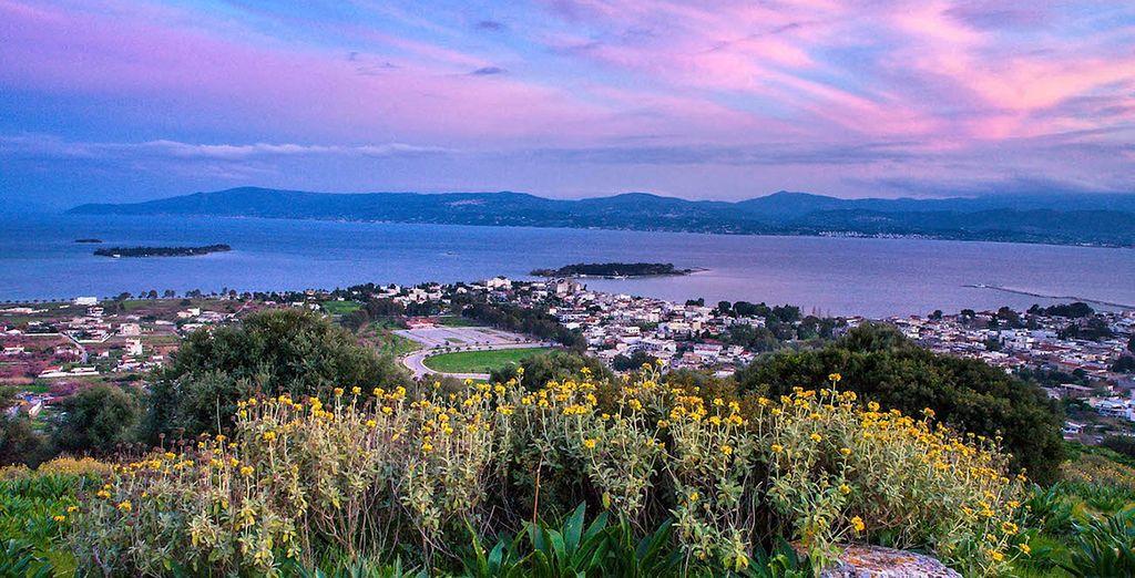 I caldi colori del tramonto vi regaleranno panorami da cartolina