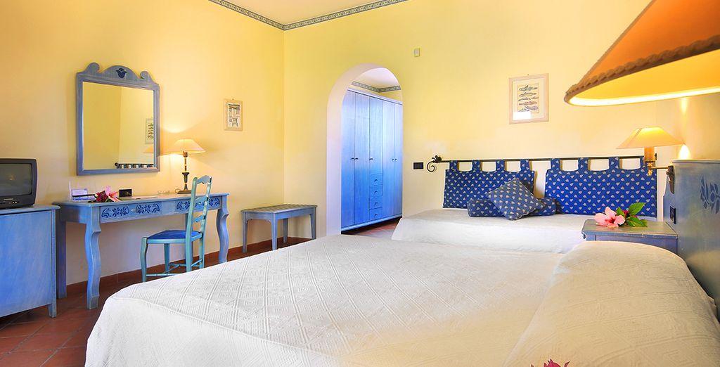 Soggiornerete nella vostra camera elegante e confortevole