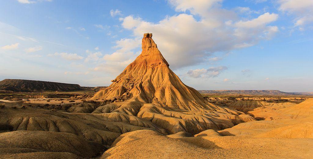 Lo splendido paesaggio desertico delle Bardenas Reales de Navarra