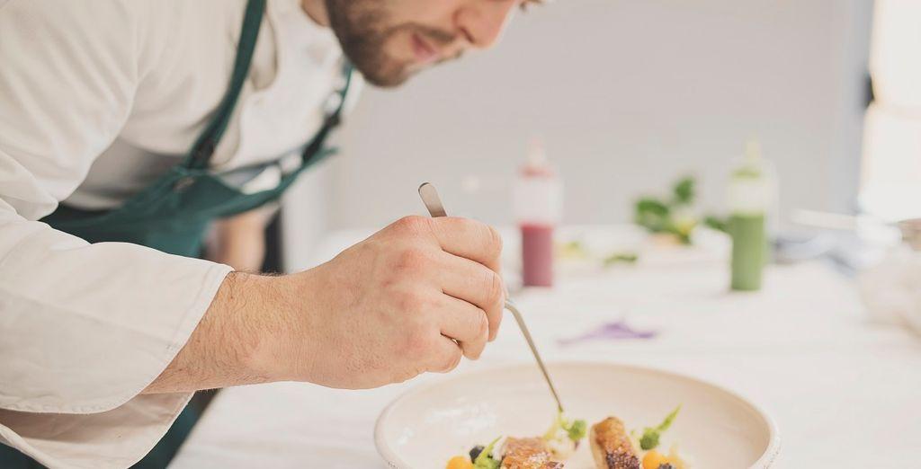 Presso il ristorante potrete assaggiare piatti gourmet con il supplemento per una cena