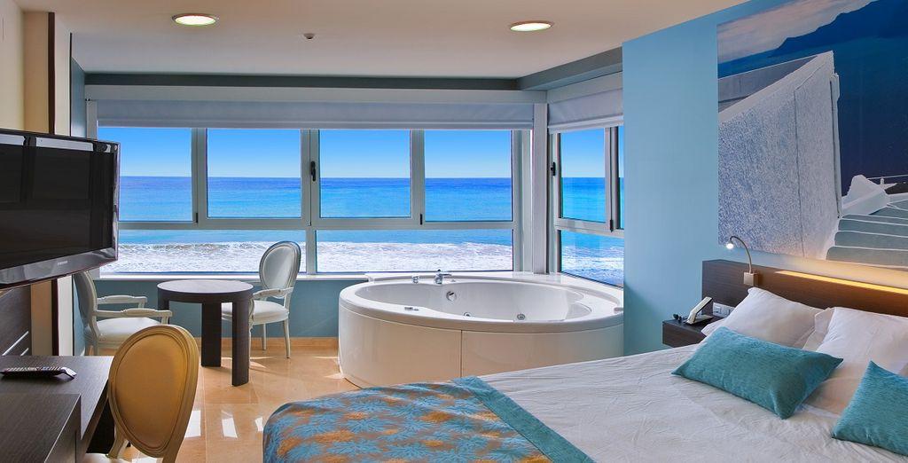 Il vostro soggiorno nelle camere vista mare con Jacuzzi sarà indimenticabile
