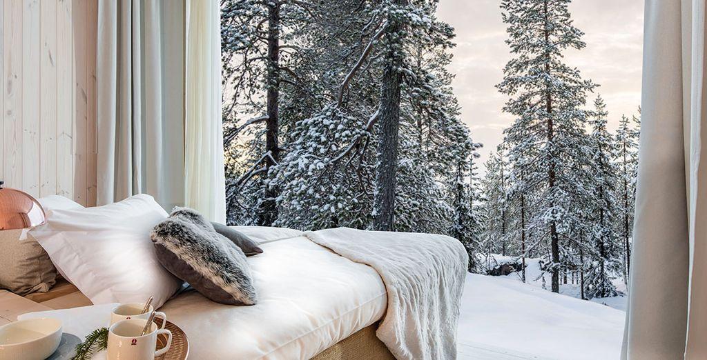 Scegliete un hotel con camere meravigliose sui paesaggi della Lapponia