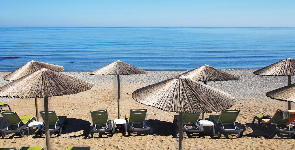 La spiaggia di sabbia fine vi regalerà momenti di puro relax