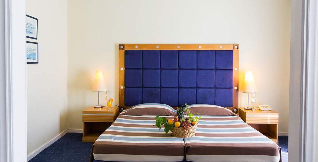Soggiornerete nelle confortevoli camere superior