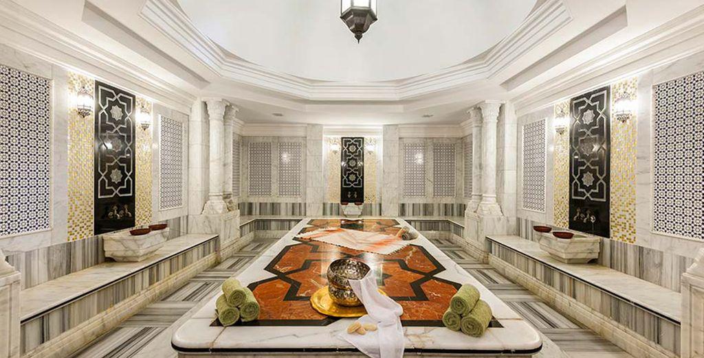 Se volete vivere un momento di benessere approfittate della SPA con hammam e bagno turco