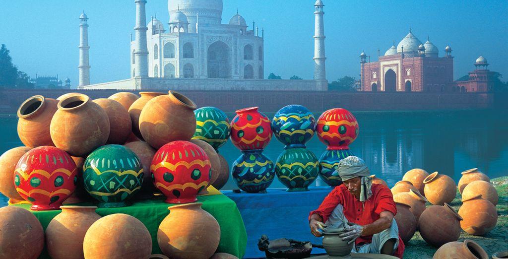 Taj Mahal, il monumento più famoso dell'India...