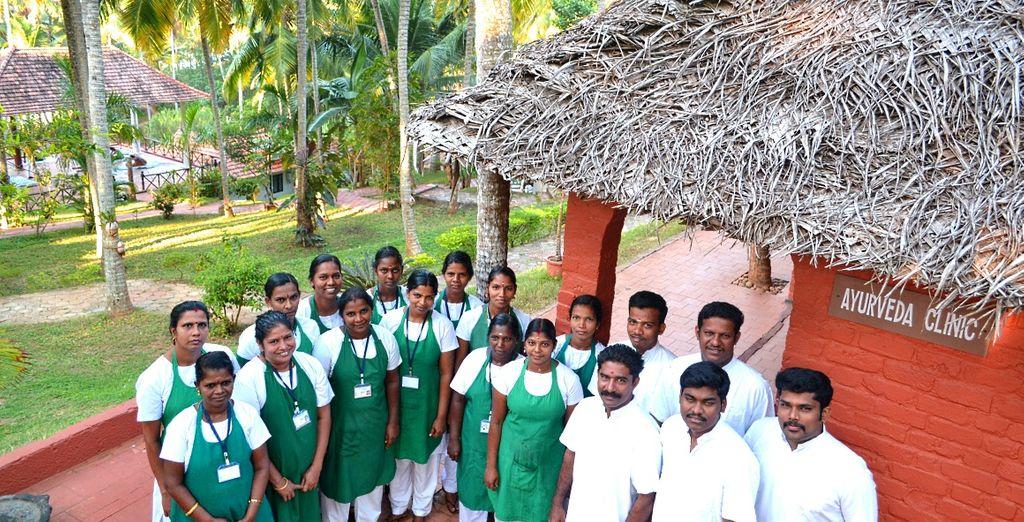 Al Poovar Island Resort troverete un team di professionisiti specializzati in Ayurveda