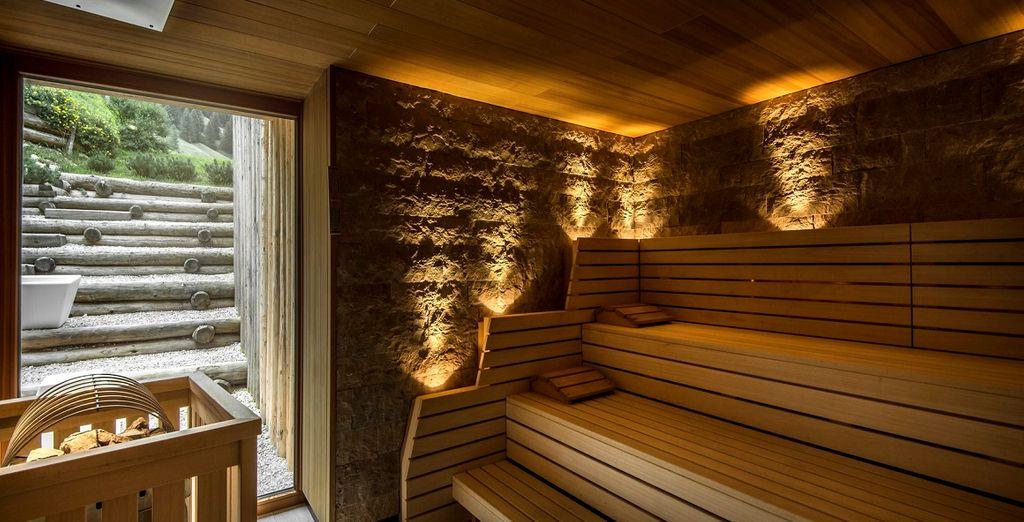 Alla caratteristica sauna