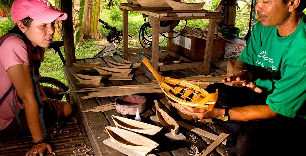 Per esplorare la cultura locale del luogo osservando i manufatti di artigianato