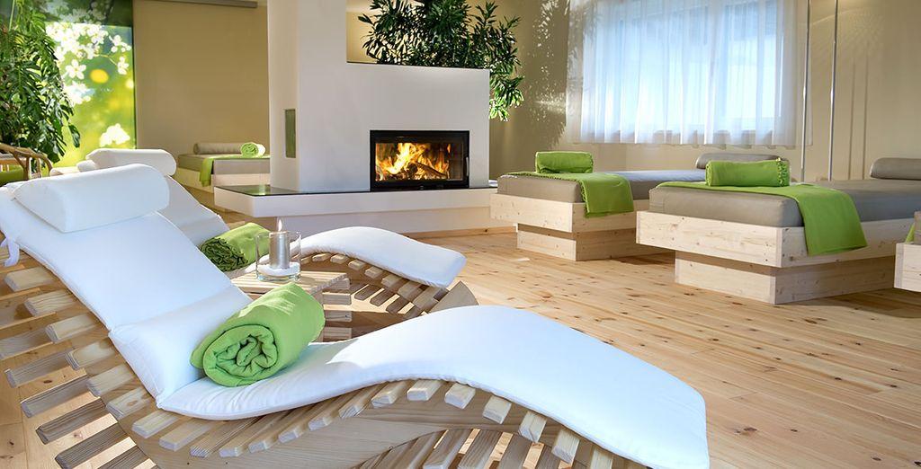 La SPA e l'area relax sono perfette per completare l'esperienza di benessere