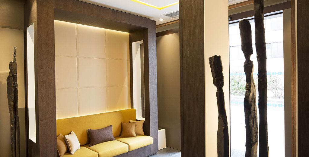 L'atmosfera elegante e raffinata dell'hotel è ispirata al fascino di Parigi