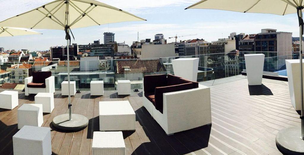 La vista della città sarà unica dalla terrazza dell'hotel
