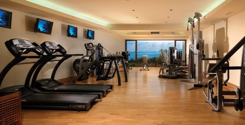 A vostra disposizione anche un attrezzato centro fitness