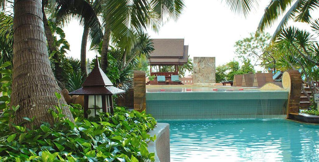 Come la splendida piscina dove concedersi momenti di puro relax