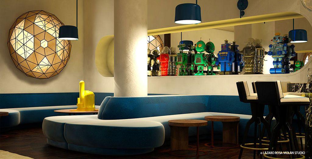 L'hotel accoglie gli ospiti in un'atmosfera esclusiva
